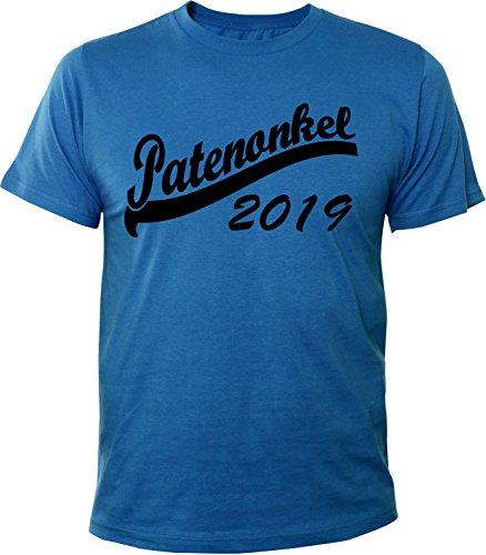 Mister Merchandise Herren Men T-Shirt Patenonkel 2019 Tee Shirt bedruckt Royal