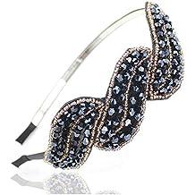 Demarkt Mode Accessoires pour Cheveux/ Headwear de Feuille Couleur de Bleu avec des Cristaux Simulés pour Les Femmes