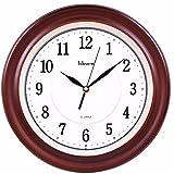 DIDADI Wall Clock Creativo della moda orologio muto continentale pastorale antico salotto orologio pendolo orologio in legno parete grafici 340 * 340mm
