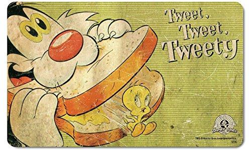 Looney Tunes - Retro Vintage Frühstücksbrettchen Schneidbrett - Tweety - Tweet Tweet Tweet (Sylvester Und Tweety Kostüme)
