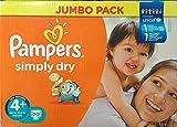 Pampers Simply Dry Gr.4+ Maxi Plus 9-20kg Jumbo Box 70 Stück