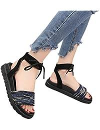 OYSOHE Neueste Sommer Frauen Mischfarben Kreuz Gebunden Flache Ferse Peep Heel Sandals Beach Schuhe