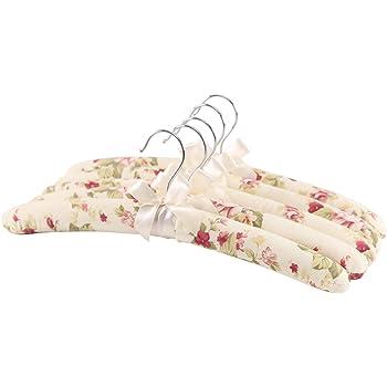 Feliibay Satin Kleiderbugel Baumwolle Stoff Kleiderbugel Blume