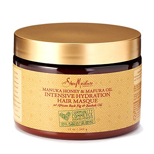 Shea Moisture Community Commerce Manuka Honey & Mafura Oil Intensive Hydration Hair Masque 350ml Shea Butter Hair Mask