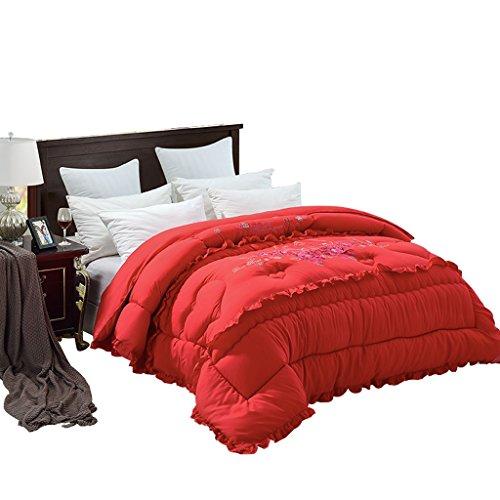 MMM Quilt de mariage rouge plus épais garder chaud automne et hiver Marry brodé Quilt Core hiver literie ( taille : 200*230cm(3kg) )