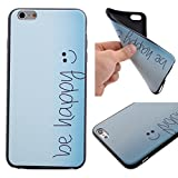 Coffeetreehouse iphone 6 / 6S Coque soft coloré de Motif TPU Silicone Mat Caoutchouc Gel Housse Étui Cover Case Pare-chocs Souple Ultra Mince pour iphone 6 / 6S - Soyez heureux