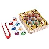 Zerodis Holz Bienen Spielzeug Klippkasten Montessori Geburtstag Weihnachtsgeschenk Pädagogisches Lernspielzeug für Kinder Baby