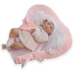 Munecas Guca 559 Reborn Martina - Muñeca de bebé con braguitas (46 cm), color rosa