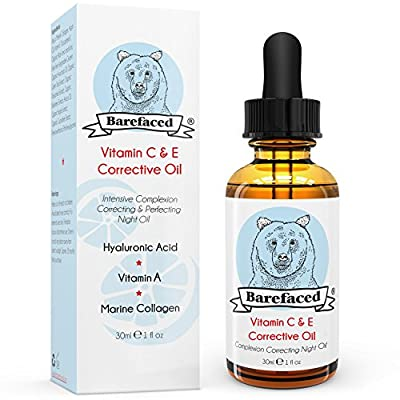 BeBarefaced Vitamin E Face Oil - Facial Vitamin C Night Serum With Hyaluronic Acid by BeBarefaced Ltd.