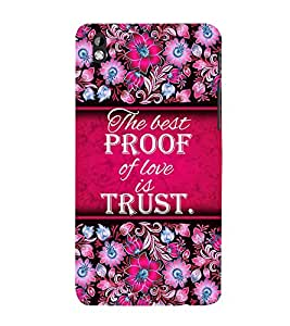 Trust Of Love 3D Hard Polycarbonate Designer Back Case Cover for HTC Desire 816::HTC Desire 816 G::HTC Desire 816D::HTC Desire 816G (Octa Core)