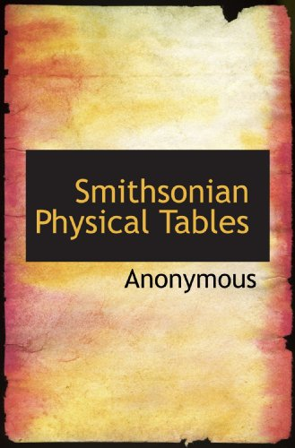 Smithsonian Physical Tables