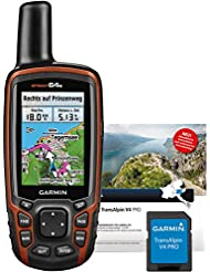 Garmin GPS Outdoor Navi Map 64S Plus Transalpin V4 Pro Micro-SD, 020-00212-04