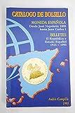 Catálogo de bolsillo de las monedas españolas. Desde José Napoleón 1808 hasta Juan Carlos I 1995 y billetes desde 1925-1995