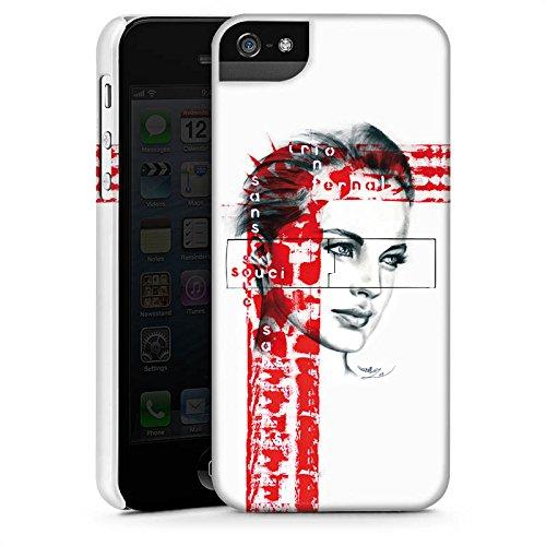 Apple iPhone X Silikon Hülle Case Schutzhülle Romy Schneider Gesicht Frau Premium Case StandUp
