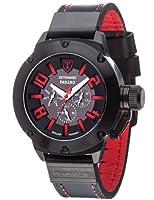 Reloj Detomaso PANARO Solar Schwarz/Schwarz Trend DT1054-B de cuarzo para hombre, correa de cuero color negro (solar, agujas luminiscentes) de Detomaso