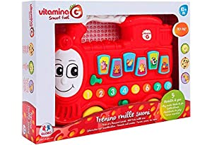 GLOBO- Music Train Choo W/Sound/Light B/O Try-Me (05305), (1)