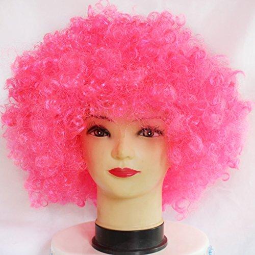 Farbe Explosion Kopf Clown Cosplay Haarbedeckung (Farbe : Pink) ()
