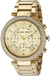 Michael Kors Analog Gold Dial Womens Watch - MK5354