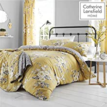 Catherine Lansfield Canterbury Easy Care King Duvet Set Ochre