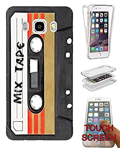 001082 - Cool Fun Mix Tape Cassette Player Retro Music Dance Hip Hop RnB Boom Box Design Samsung Galaxy J5 (2016) SM-J510X Fashion Trend Complete 360 Degree protection Coque Gel Rubber Silicone protection Case Coque
