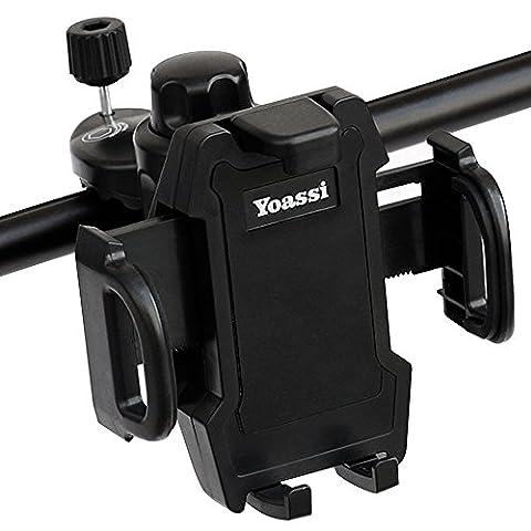 Yoassi Universal Fahrrad Handyhalterung Smartphone Halterung Halter für iPhone 6 Plus / 6 / 5s / 5 / 4 & Samsung Galaxy S6 Edge / S6 / S5 / S4 / S4 Mini / Note 3 / Note 4 / Note Edge