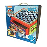 Nickelodeon Paw Patrol 7 Game House Compendium with Wooden Drawer Cabinet - Draughts - Dominoes - Cards - Bingo