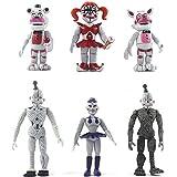 BESTZY 6pcs Five Nights at Freddy's, Five Nights At Freddy Modelo de decoración Modelo de personaje animado Regalo (4,5 pulga