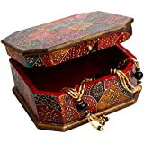 Rajasthani Home Decor Handicrafts | Home Decor Gifts | Home Decorative Items In Living Room, Bedroom | Rajasthani Wooden Jewellry Cosmastic Handicraft Box-1