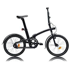 Btwin Tilt-7 Folding Bike, Adult (Black)
