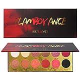 DE'LANCI Lidschatten-Palette, 12 Farben Make-up Hoch Pigmentierte Matte Schimmer Langlebige Glitter Lidschatten Pulver Make-up Kit