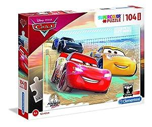 Clementoni Supercolor puzzle-cars-104Piezas Maxi, 23727