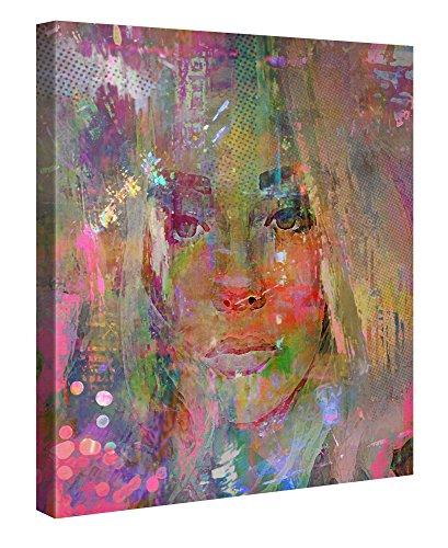 Premium Leinwanddruck 80x80 cm – Thoughtful Girl – XXL Kunstdruck Auf Leinwand Auf 2cm Holz-Keilrahmen – Handgemachte Fotoleinwand In Deutsche Markenqualität Für Wohn- Und Schlafzimmer Von Joe Ganech X Gallery Of Innovative Art