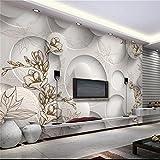 YUANLINGWEI 3D Magnolie Ahorn Blätter Für Sofa Tv Hintergrund Wand Silk Tuch Foto Wandbild