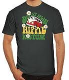 ShirtStreet Fasching Karneval Herren T-Shirt mit Das ist Mein Hippie Kostüm Motiv, Größe: XL,Darkgrey