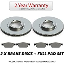 Front 2 x Brake Discs and Pads Set
