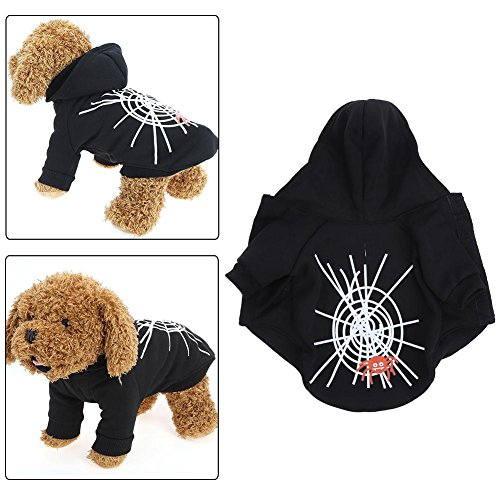domybest Halloween Spider Web Pet Dog Kleid Ghost Festival Pullover
