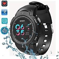 Dtno. 1Sports Smart Watch, IP6850m étanche podomètre véritable–Temps de la fréquence cardiaque informations Push appel rappel Fitness tracker pour homme femme étudiants avec magnétique Charge