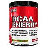 Evlution Nutrition BCAA Energy - Prestazione Elevata, Supplemento Aminoacidi Energizzate per Costruire i Muscoli, per la Ripresa e la Resistenza (30 Dosi) Strawberry Limeade