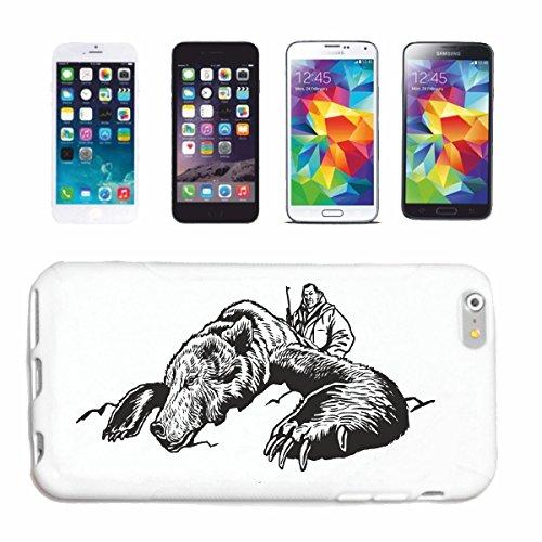 Reifen-Markt Handyhülle iPhone 7 JÄGER BEI DER GROß WILD Jagd BÄR EISBÄR BRAUNBÄR WILD GROSSWILD REH Wildschwein Hardcase Schutzhülle Handycover Smart Cover für Apple iPhone in Weiß