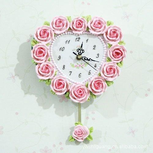 COLLECTOR Le rose rosa compeers serie rose amore mosaico continental palace romantica parete resina orologio orologio da