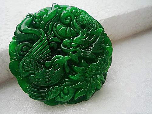 Mayanyan Natürliche Jade A Cargo grün Eisen Longlongyu Anhänger voller grüner Drache Jade Jade hängen Männer und Frauen Geschenke -
