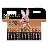 Duracell - Plus AAA, Pilas Alcalinas (paquete de 12) 1,5 Voltios LR03 MN2400 (el embalaje puede variar)