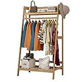 Garderobenständer Duo Multifunktionale Bambus Stock Kleiderbügel Schlafzimmer Kleiderständer Regal Kleiderbügel mit 3 Größen Kleiderständer (größe : 70cm)