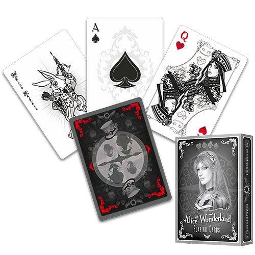 Alice im Wunderland Kartenspiel, SILVER EDITION, Alice of Wonderland Pokerdeck + 3 ''Look & Feel''-Karten , Spielkarten, Pokerkarten, Playing Cards