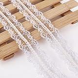10 Meter Design Perle Spitzenband Weiss Spitzenborte Nähen Kleidung Geschenkbox Hochzeit Deko Scrapbooking