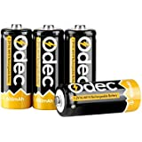Odec N Size Batteries, N Rechargeable Battery LR1 E90 MN9100 AM5 1.5V 600mAh Ni-MH For Clock, LED Lights, Toys And Electronic Devices (4 Pack)