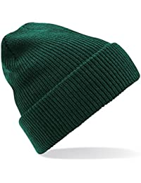 Amazon.it  Cuffia Uomo Cotone - Verde   Berretti in maglia   Cappelli e ... 52ffcb64a197