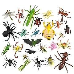 Idea Regalo - TUPARKA 27 PZ Grande Mini Insetto Bug Figure Giocattoli Plastica Realistica Insetti Bugs Beetle Lizard Bee Modello Animale Gag Giocattoli per Bambini Giocattoli educativi scolastici, Stile Casuale