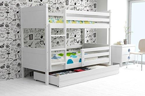"""LITERA INFANTIL 190X80 """"RINO"""" con cajón, color blanco (LOS PANELES EN VARIOS COLORES) (blanco)"""