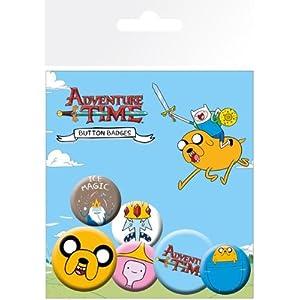 GB Eye Anstecker-/Button-Set, Motiv Adventure Time, Jake